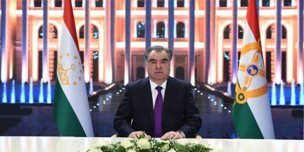 Поздравительное послание Президента Республики Таджикистан в связи с наступлением Нового 2020 года