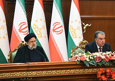 Речь Президента Республики Таджикистан Эмомали Рахмона на пресс-конференции по итогам переговоров с Президентом Исламской Республики Иран Сайидом Иброхимом Раиси