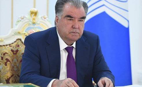 Президент Таджикистана примет участие в заседании Совета глав государств СНГ в формате видеоконференции
