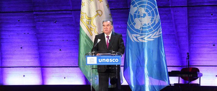 Выступление Президента Республики Таджикистан Эмомали Рахмона на церемонии открытия Дня культуры Таджикистана в ЮНЕСКО